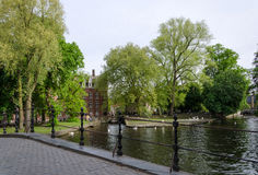 Minnewater jezioro w begijnhof Bruges Obraz Royalty Free