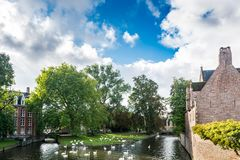 Minnewater Lake in Bruges Stock Images
