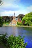Minnewater Love湖风景布鲁日比利时 免版税图库摄影