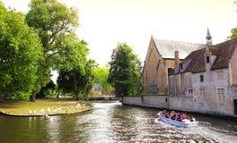 Minnewater pond Begijnhof monastery Brugge Belgium Royalty Free Stock Photo