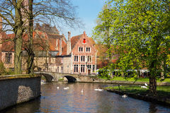 Minnewater in Brugge, Belgium Royalty Free Stock Photos