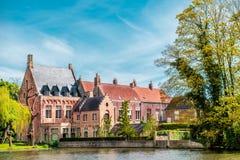 Minnewaterpark à Bruges Image libre de droits