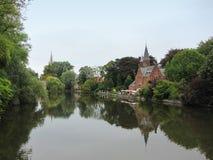 Minnewaterpark -布鲁日,比利时 库存图片