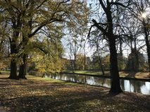 Minnewaterpark Bruges immagine stock