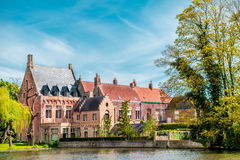 Minnewaterpark in Bruges Royalty Free Stock Image