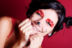 Minnie make-up Royalty Free Stock Images