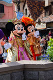 Minnie and Mickey Mouse during a show, Disneyland Paris Stock Photography