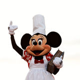 Minnie Mouse. As a cook holding a cookbook during a live performance in Disneyland Paris Stock Photos