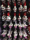 Minnie Mouse Christmas Ornaments For Sale. Lots of Minnie Mouse Disney Christmas Ornaments for sale at the Disney Christmas shop in Disney Springs, Orlando royalty free stock photography