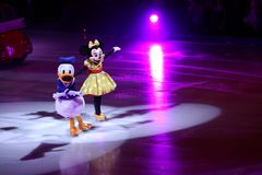 Minnie Mouse and Donald Duck. Disney characters minnie mouse and donald duck in Disney on Ice Stock Photography
