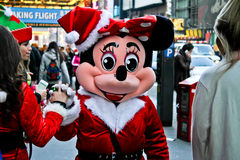 Minnie Mouse greets New Yorkers Royalty Free Stock Image