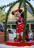 Minnie Mouse at a Hamner Springs Christmas Parade Royalty Free Stock Photos