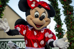 Minnie Mouse at a Hamner Springs Christmas Parade Royalty Free Stock Images