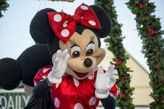 Minnie Mouse at a Hamner Springs Christmas Parade Stock Photography