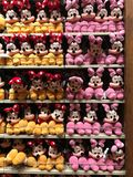 Minnie Mouse Plush Toys. For sale in Disney Springs, Orlando, Florida stock images