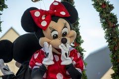 Minnie Mouse przy Hamner Skacze boże narodzenie parada Zdjęcie Stock