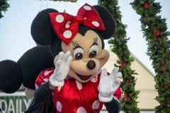 Minnie Mouse przy Hamner Skacze boże narodzenie parada Fotografia Stock