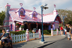 Minnie Mouse's House Disneyland Orlando Florida Stock Images