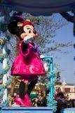 Minnie Mouse während der täglichen Parade, Disneyland Paris Stockbild