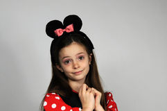 Minnie Mouse. Young teenager girl dressed like Minnie Mouse royalty free stock photos