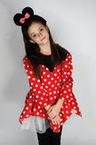 Minnie Mouse. Young teenager girl dressed like Minnie Mouse stock photos