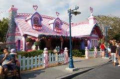 Minnie Mouses Haus Disneyland Orlando Florida Stockbilder