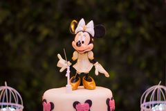 Minnie pink and gold to decorate. Lovely Minnie for party decoration Royalty Free Stock Image