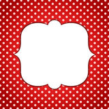 Minnie Red Frame Polka Dots Invitation Card. Minnie red polka dots background with a white frame border. Template to make Minnie themed or ladybug invitation Stock Photography