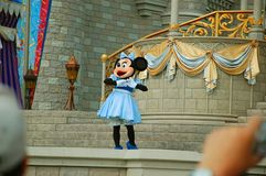 Minnie on stage Stock Photo