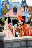 Minnie und Mickey Mouse während einer Show, Disneyland Paris Stockfotografie