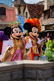 Minnie und Mickey Mouse während einer Show, Disneyland Paris Lizenzfreie Stockfotos