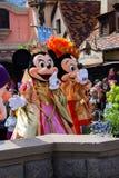 Minnie y Mickey Mouse durante una demostración, Disneyland París Fotografía de archivo