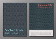 Minnimalistic Designschablonen der Broschürenabdeckung Lizenzfreie Stockbilder