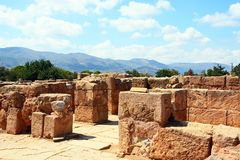 Free Minoan Buildings At Malia Ruins. Royalty Free Stock Images - 81132259
