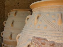 Minoan Jars. Two Big Minoan Jars in Knossos Palace, Crete Royalty Free Stock Photography