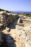 Minoan lane Royalty Free Stock Photo