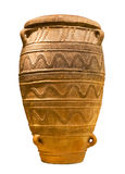 Minoan large storage jar (1450-1400 B.C.) isolated. Minoan large storage jar from Knossos palace (1450-1400 B.C.) isolated Royalty Free Stock Photography