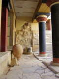 Minoan palace in Greece Stock Image