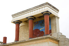 Minoan palace at Knossos Royalty Free Stock Images