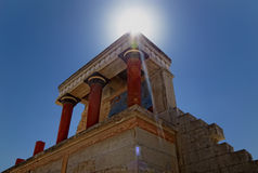 Minoan Palace of Knossos. In Heraklion, Crete Royalty Free Stock Image