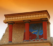 Minoan palace at Knossos. Place in crete island Stock Image