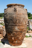 Minoan Pithos, Palace of Malia, archaeological site - Crete Royalty Free Stock Photos