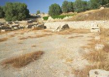 Minoan/römischer Hafen, Kommos stockfotos