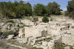 Minoan ruins of Kommos - Crete. The Kommos excavation site in the western shore of the Mesara Plain. Greece Stock Photos
