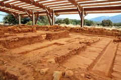 Minoan ruins at Malia, Crete. Stock Photography