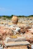 Minoan ruins at Malia, Crete. Stock Image