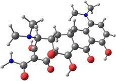 Minocycline molecule  on white Stock Photos