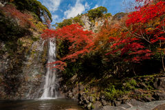 Minoh vattenfall royaltyfri bild