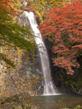 Minoh waterfall in autumn Royalty Free Stock Photos