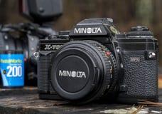 Minolta 35mm obiektywu refleksowa kamera obrazy stock